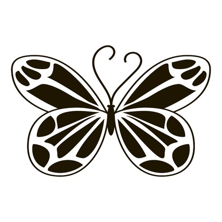antennae: Night butterfly icon. Simple illustration of night butterfly vector icon for web