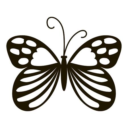 Beautiful butterfly icon. Simple illustration of beautiful butterfly vector icon for web Illustration