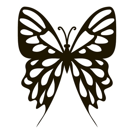 mormon: Collection butterfly icon. Simple illustration of collection butterfly vector icon for web