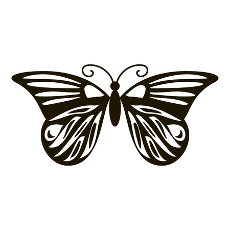 mormon: Summer butterfly icon. Simple illustration of summer butterfly vector icon for web