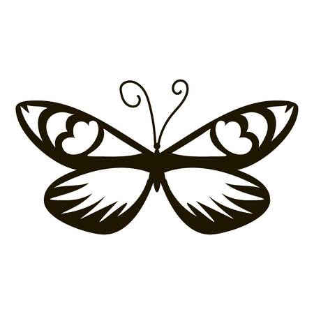 mormon: Air butterfly icon. Simple illustration of air butterfly vector icon for web Illustration