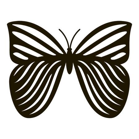 mormon: Megaloptera butterfly icon. Simple illustration of megaloptera butterfly vector icon for web