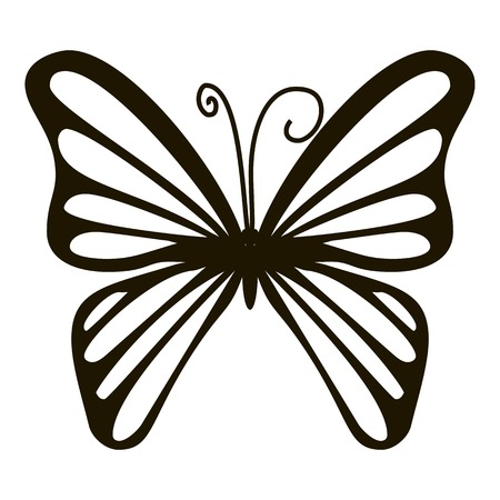mormon: Rare butterfly icon. Simple illustration of rare butterfly vector icon for web