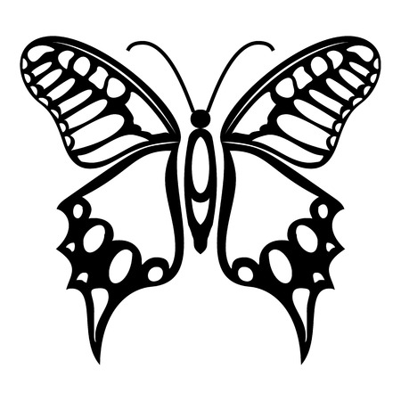 mormon: Fluttering butterfly icon. Simple illustration of fluttering butterfly vector icon for web