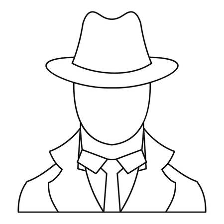 mysterious: Spy icon. Outline illustration of spy vector icon for web