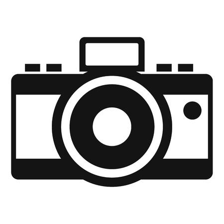 photocamera: Photocamera icon. Simple illustration of photocamera vector icon for web