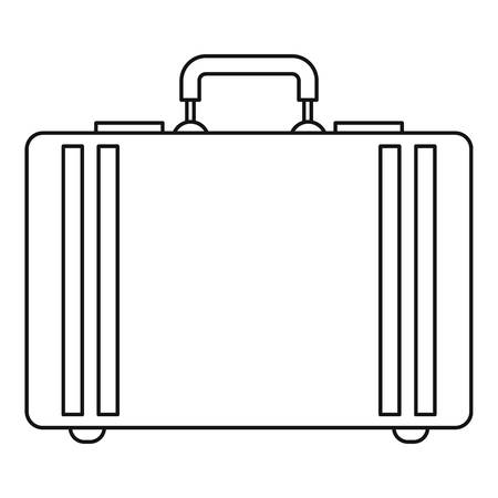 attache: Diplomat icon. Outline illustration of diplomat vector icon for web Illustration