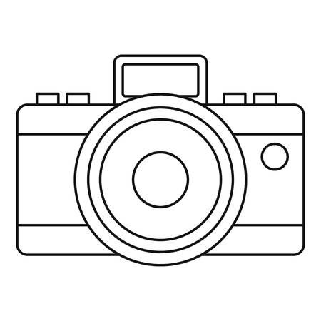 photocamera: Photocamera icon. Outline illustration of photocamera vector icon for web Illustration
