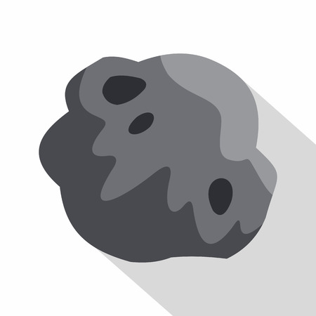 meteor crater: Asteroid icon. Flat illustration of asteroid vector icon for web