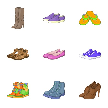 foot care: Foot care icons set. Cartoon illustration of 9 foot care vector icons for web Illustration