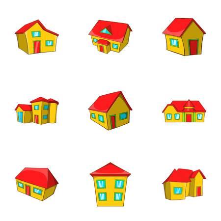 dwelling: Dwelling icons set. Cartoon illustration of 9 dwelling vector icons for web Illustration