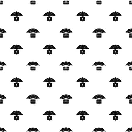 business case: Umbrella and business case pattern. Simple illustration of umbrella and business case vector pattern for web Illustration