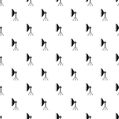 stripbox: Studio light bulb in softbox pattern. Simple illustration of studio light bulb in softbox vector pattern for web Illustration