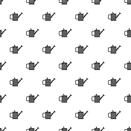 can pattern: Watering can pattern. Simple illustration of watering can vector pattern for web