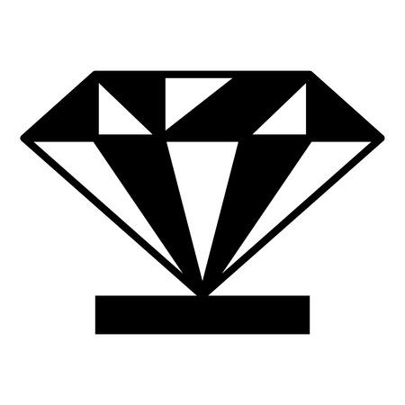 받침대 아이콘에 다이아몬드. 웹 디자인 페 데 스탈 벡터 아이콘에 다이아몬드의 간단한 그림 일러스트
