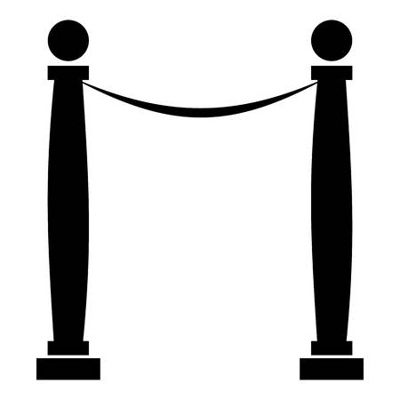 rope barrier: Rope barrier icon. Simple illustration of rope barrier vector icon for web design