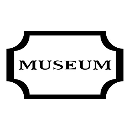 exhibit houses: Sign museum icon. Simple illustration of sign museum vector icon for web design