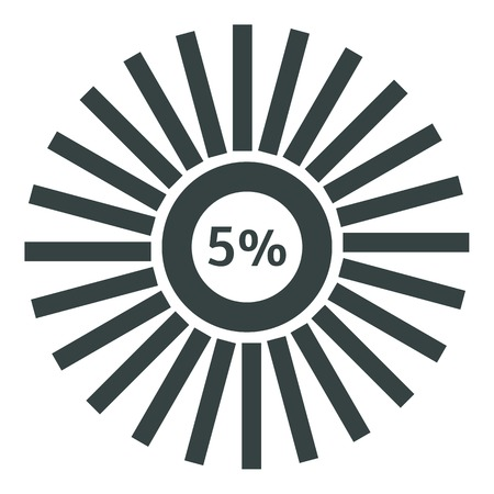 Web preloader 5 percent icon. Flat illustration of web preloader vector icon for web design