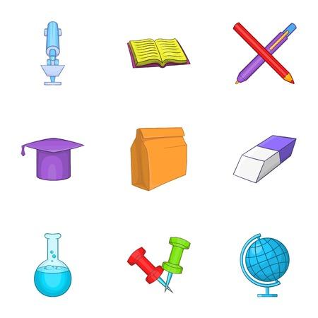 schoolhouse: Schoolhouse icons set. Cartoon illustration of 9 schoolhouse vector icons for web Illustration