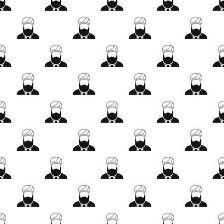preacher: Muslim man pattern. Simple illustration of muslim man vector pattern for web