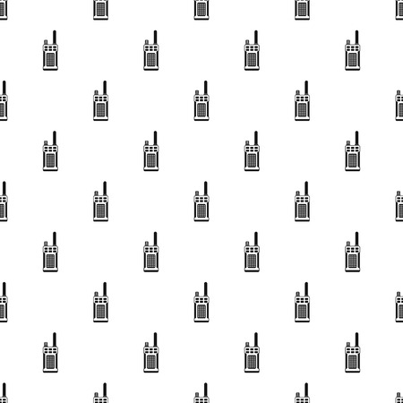 simplex: Portable handheld radio pattern. Simple illustration of portable handheld radio vector pattern for web Illustration
