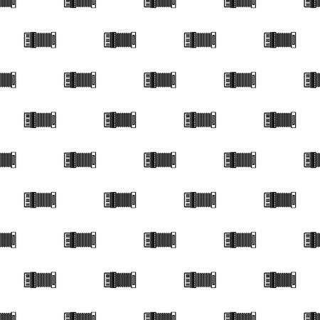 acordeón: Accordion pattern. Simple illustration of accordion vector pattern for web Vectores