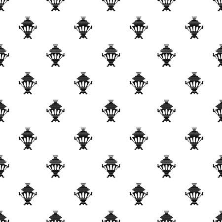 samovar: Samovar pattern. Simple illustration of samovar vector pattern for web Illustration