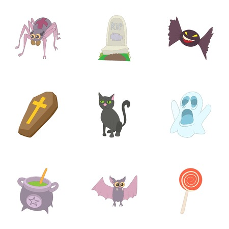 resurrection: Resurrection of dead icons set. Cartoon illustration of 9 resurrection of dead vector icons for web