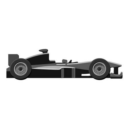 bolide: Race sport car icon. Gray monochrome illustration of car vector icon for web design