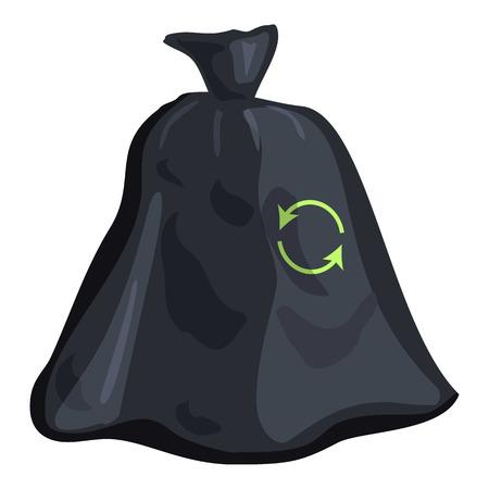 garbage bag: Garbage bag icon. Cartoon illustration of garbage bag vector icon for web