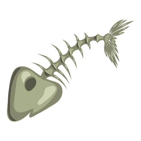 dead fish: Fish bone icon. Cartoon illustration of fish bone vector icon for web