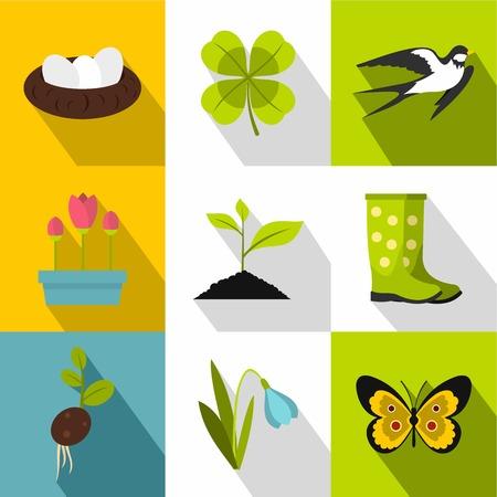 garden maintenance: Garden maintenance icons set. Flat illustration of 9 garden maintenance vector icons for web Illustration