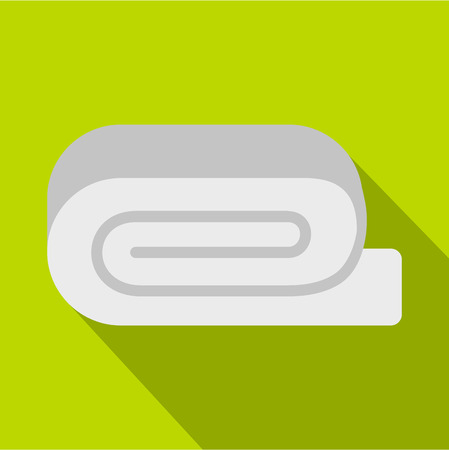 absorb: Spa towel icon. Flat illustration of towel vector icon for web design