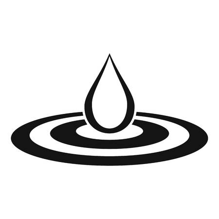 spill: Water drop and spill icon. Simple illustration of drop vector icon for web design