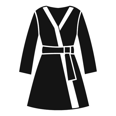 housecoat: Bathrobe icon. Simple illustration of bathrobe vector icon for web design