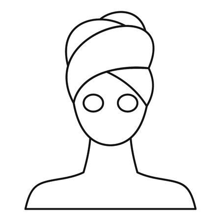 Spa facial clay mask icon. Outline illustration of clay mask vector icon for web design