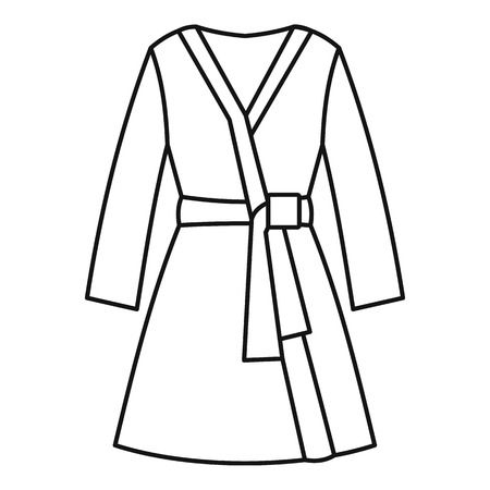 housecoat: Bathrobe icon. Outline illustration of bathrobe vector icon for web design