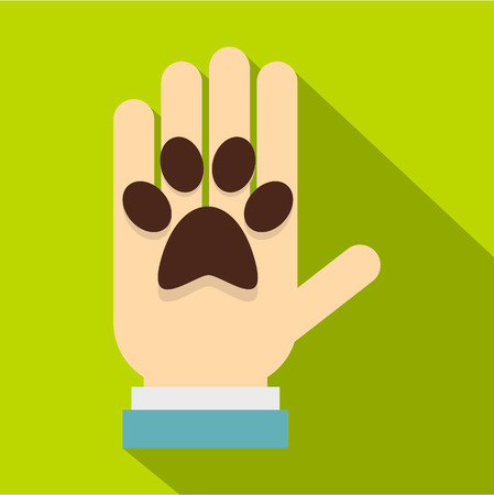 Donations for pets icon. Flat illustration of donations for pets vector icon for web design