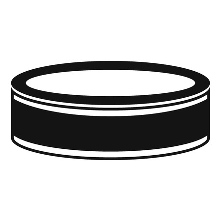 playoff: Puck icon. Simple illustration of puck vector icon for web