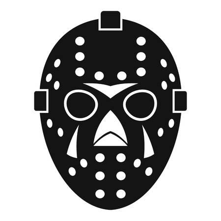 arquero de futbol: Goalkeeper mask icon. Simple illustration of goalkeeper mask vector icon for web