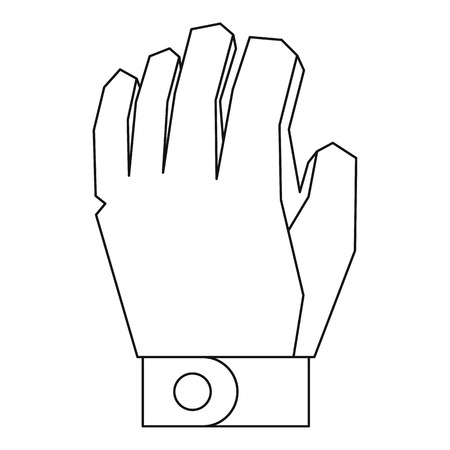 padding: Hockey glove icon. Outline illustration of hockey glove vector icon for web