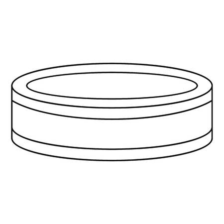 puck: Puck icon. Outline illustration of puck vector icon for web Illustration