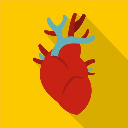 vein valve: Heart icon. Flat illustration of heart vector icon for web