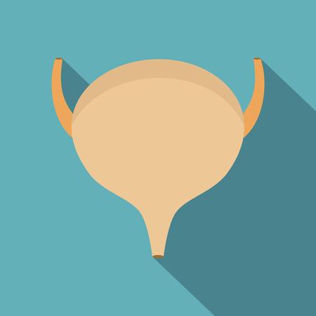 Bladder icon. Flat illustration of bladder vector icon for web Illustration