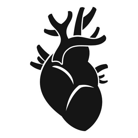 Heart icon. Simple illustration of heart vector icon for web