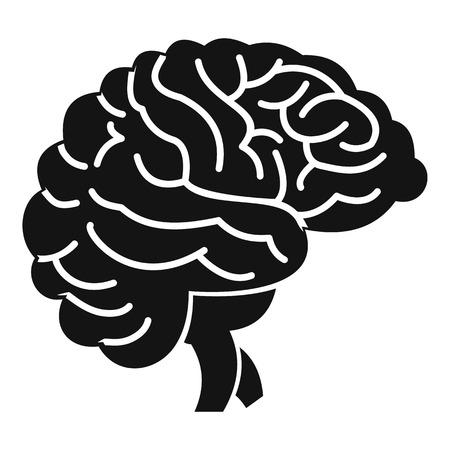 neurosurgery: Brain icon. Simple illustration of brain vector icon for web