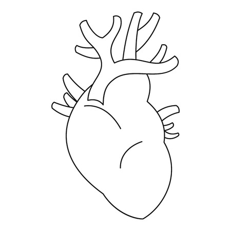 Heart icon. Outline illustration of heart vector icon for web Illustration
