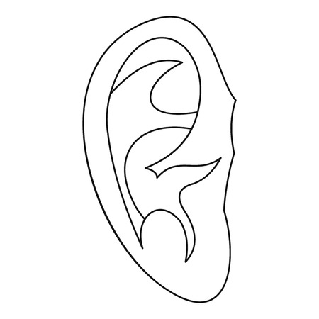 ear icon outline illustration of ear vector icon for web royalty
