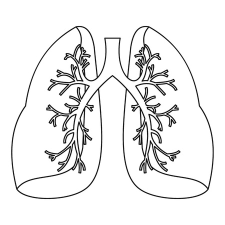 pulmonology: Lungs icon. Outline illustration of lungs vector icon for web Illustration