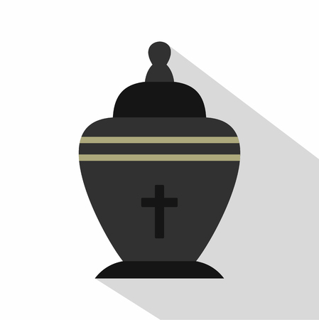 urn: Urn icon. Flat illustration of urn vector icon for web